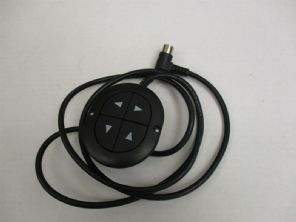 4 BUTTON OVAL CONTROLLER FOR 2 MOTOR ELECTRIC RECLINER CHAIRS WITH RIGHT ANGLE 5 PIN PLUG